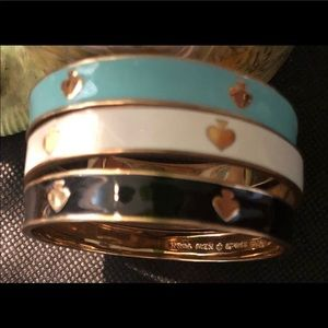 3 Kate Spade rare spade bangle bracelets retired